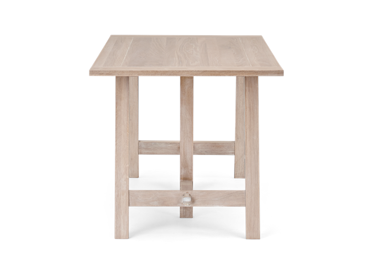 Hebden Trestle Table_Chalked Oak Top_Chalked Oak Legs