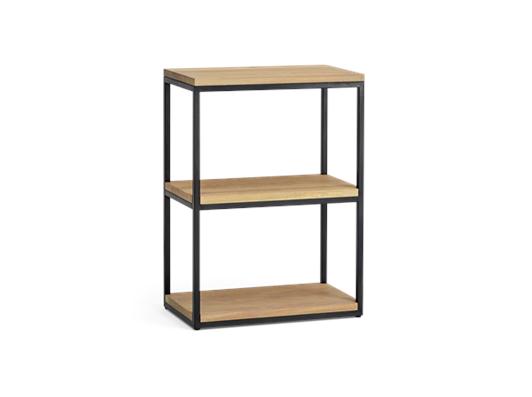 Carter 60 Fitted Shelves Black Steel _ Dark Vintage Oak 3Q copy
