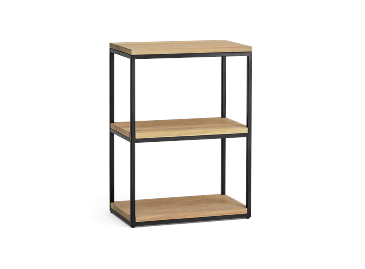 Carter 60 Fitted Shelves Black Steel _ Dark Vintage Oak 3Q copy