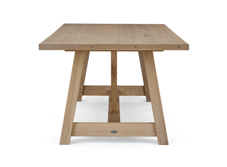Arundel 245 Rectangular Table_Natural Oak_Side