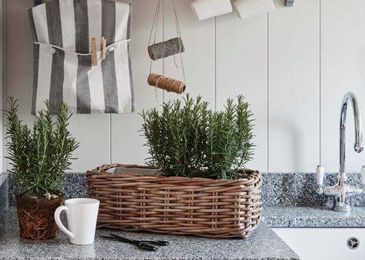 Utility Room Littleton Zinc Lined Basket