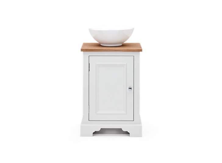 Chichester 500 Oak Countertop Washstand Left Shell Front