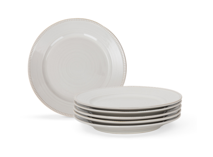 Sutton dessert plate, off white, 5 stack copy