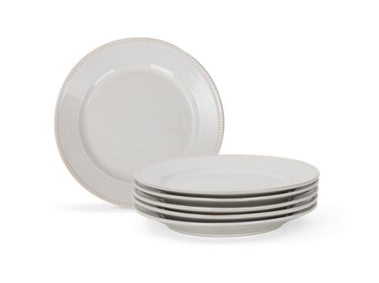 Sutton dessert plate, off white, 5 stack copy