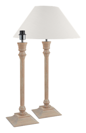 Fairfax Oak Lamp Base & Shade