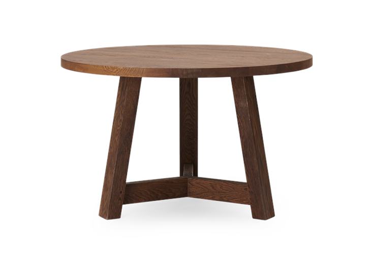 Arundel 120 Round Table Darkened Oak_Front