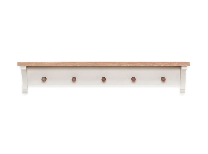 Suffolk 3ft Coat Rack Silver Birch Front2