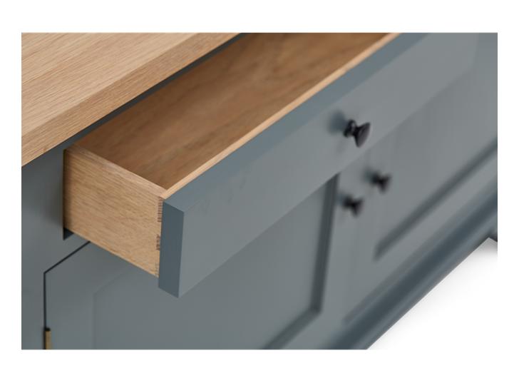 Henley 4ft AV Corner Cabinet Detail 02