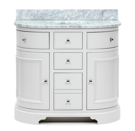 Chichester 960 Undermount Curved Washstand Only-Shell-Shell Front