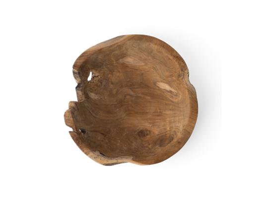 Stanton teak round bowl, Large, top