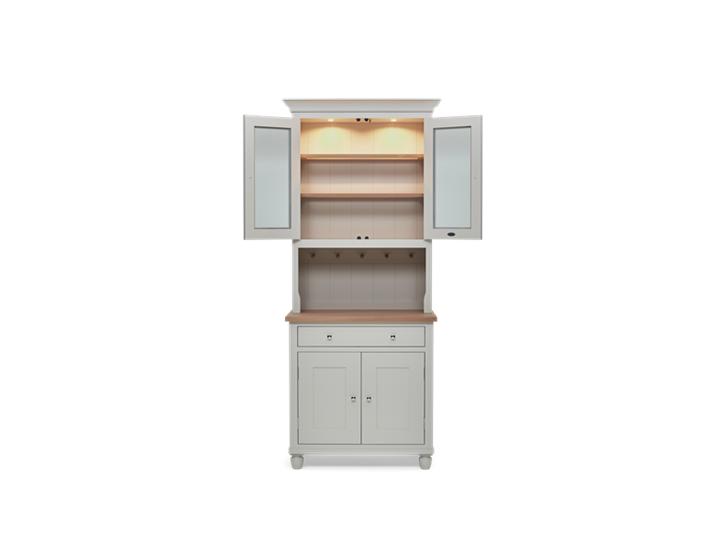 Suffolk 3ft glazed Dresser Silver Birch Front Open Lights ┬® Robert Smith 2020