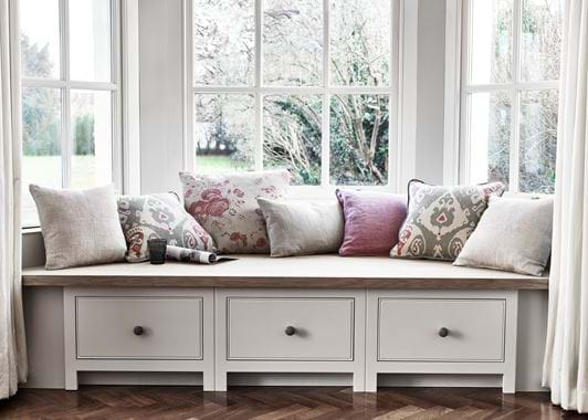 Grace cushion on window seat