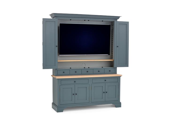 Henley 5ft AV Cabinet Smoke 3Q Open 1 TV