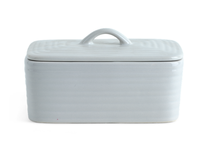 Lewes Butter Dish Grey_Front Lid