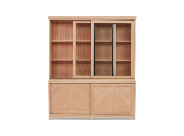 Holborn 6ft Glazed Dresser Natral Oak 002