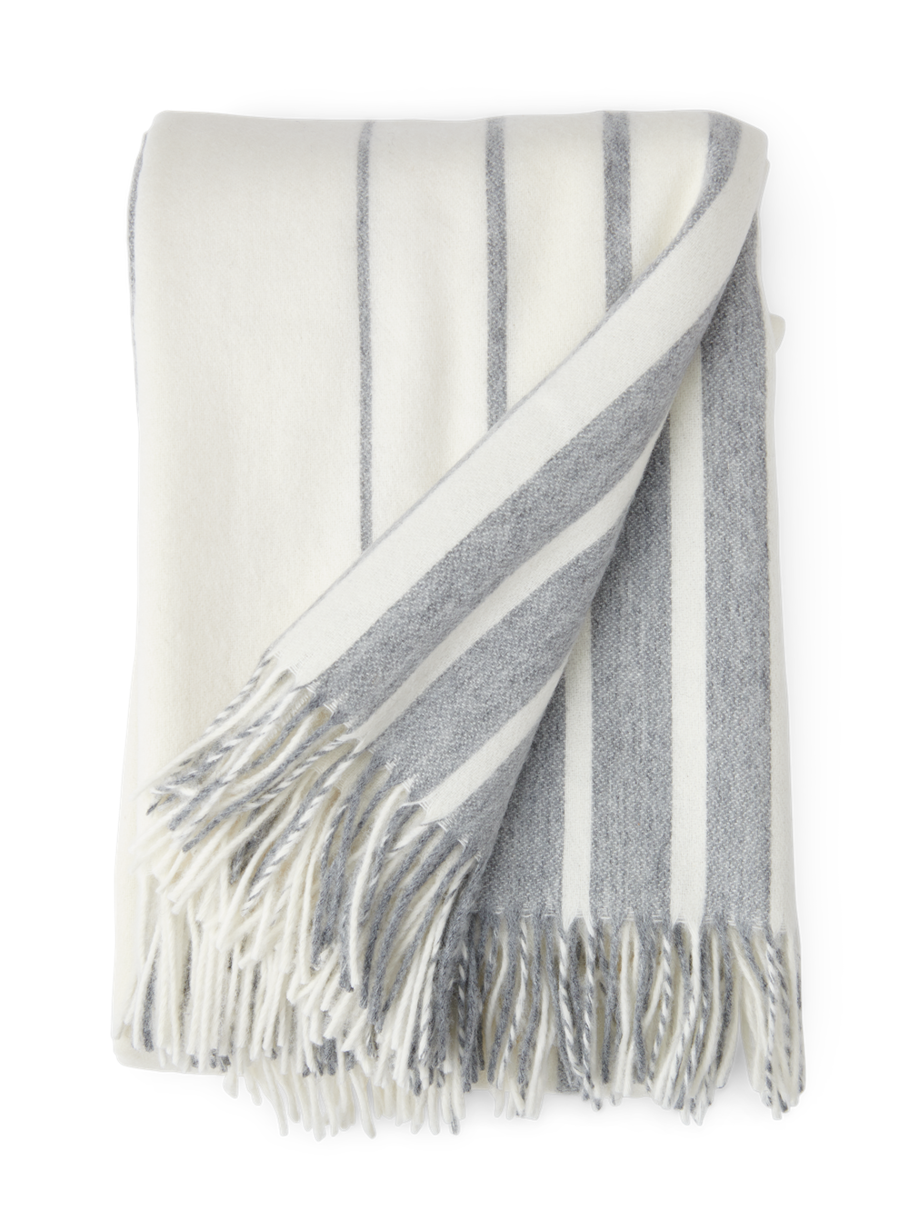 Cley Stripe Throw Pebble_Front