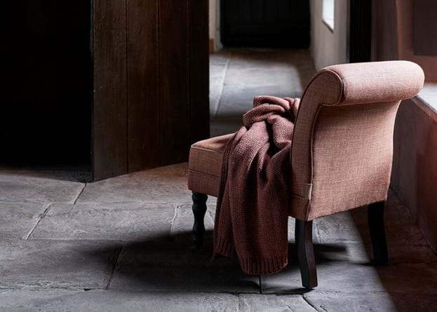 Madeleine chair with throws doors closed