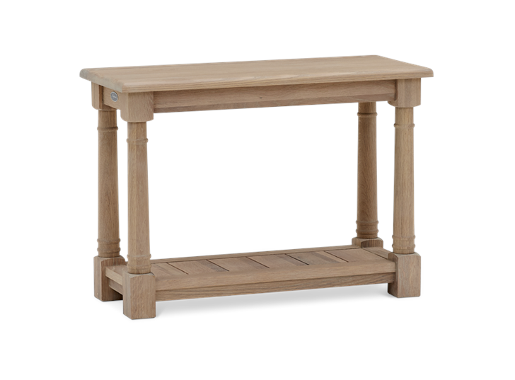 Edinburgh 70 Rectangular Lamp Table Oak 3Qb