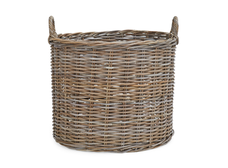 Somerton large round log basket