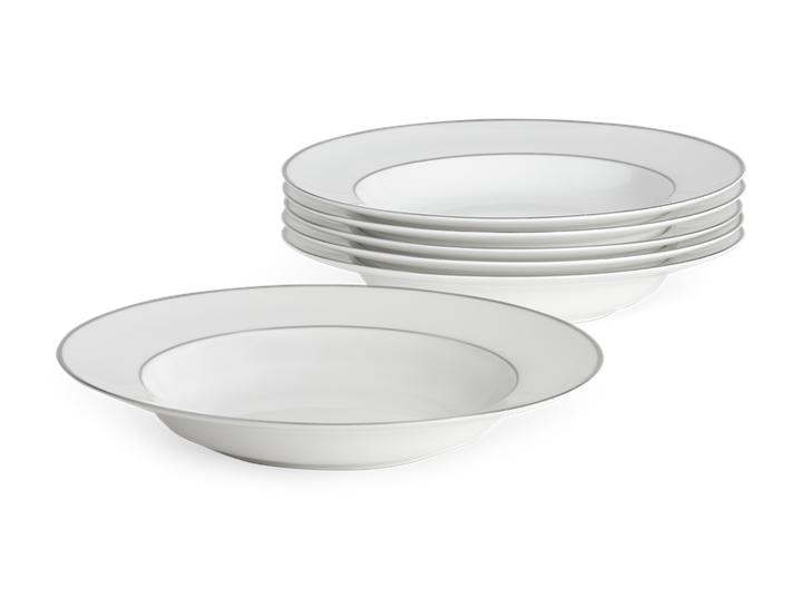 Fenton Soup Plate Set of 6 Platinum_Stack