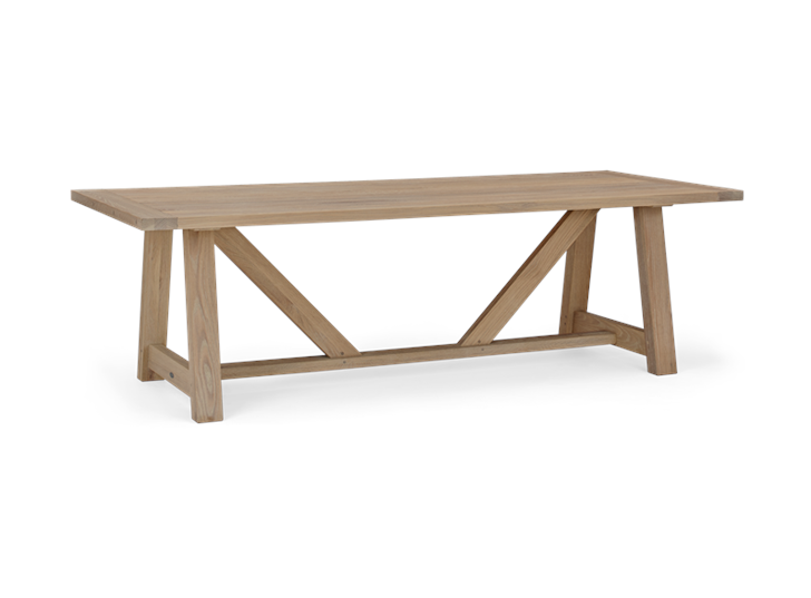 Arundel 245 Rectangular Table_Natural Oak_3Quarter