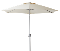 Staysail 2.5m Parasol, Cobble with Natural Canopy