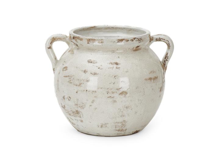 Haybrook Round Vase Snow_Front