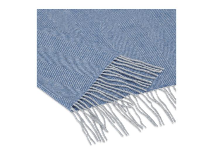 Westmeath Herringbone Throw Denim_thickness Detail