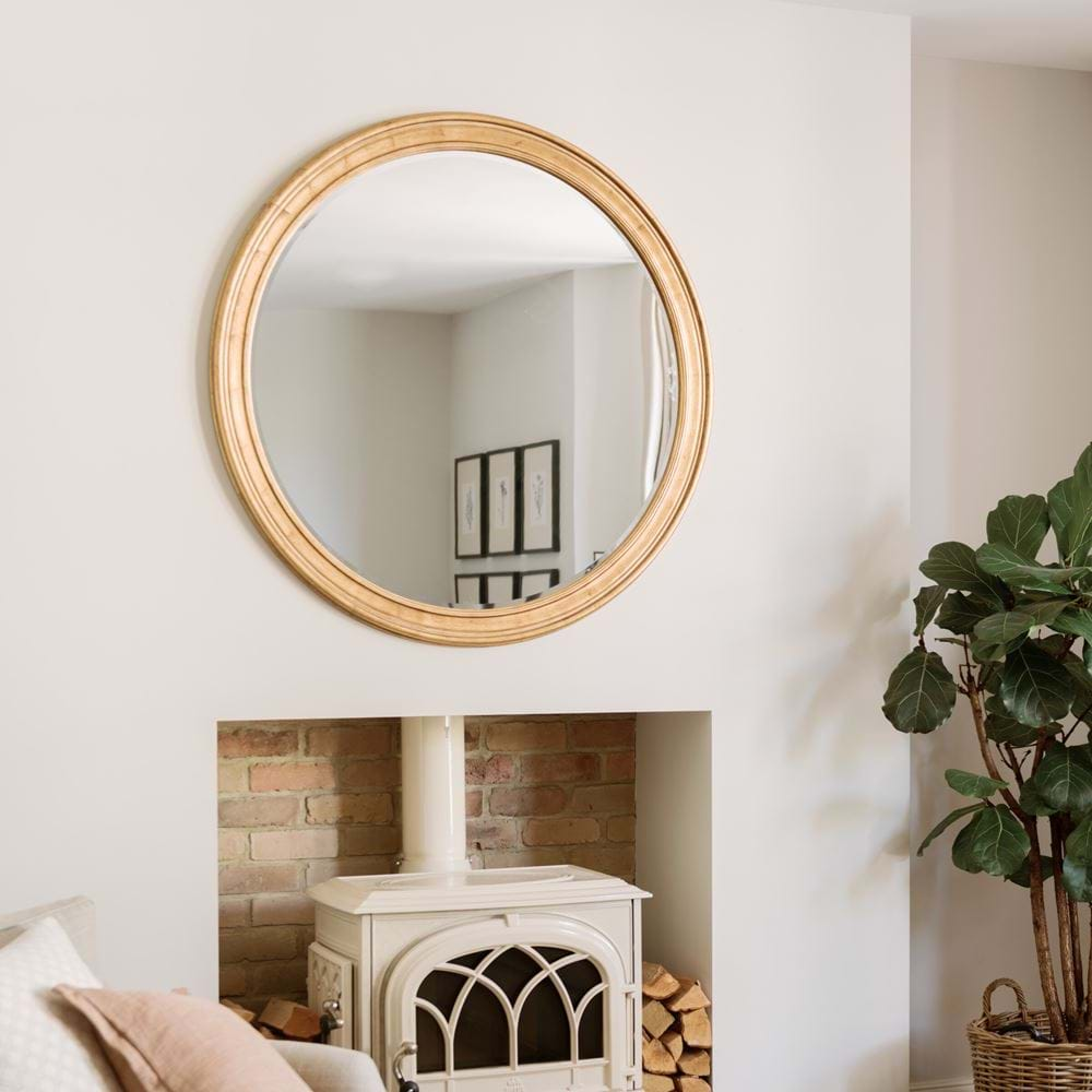 Fleming Large Round Gold Gilt Framed Wall Mirror Neptune