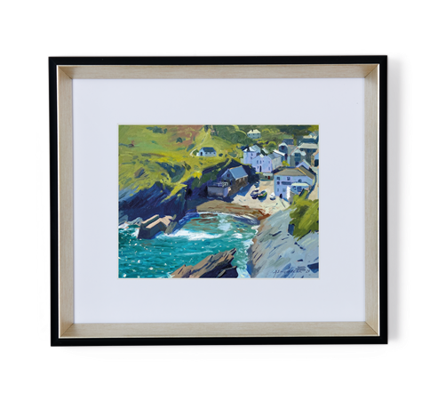 Seascape turquoise water Portloe_front