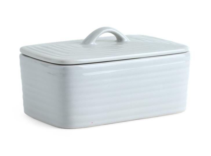 Lewes Butter Dish Grey_3Quarter Lid