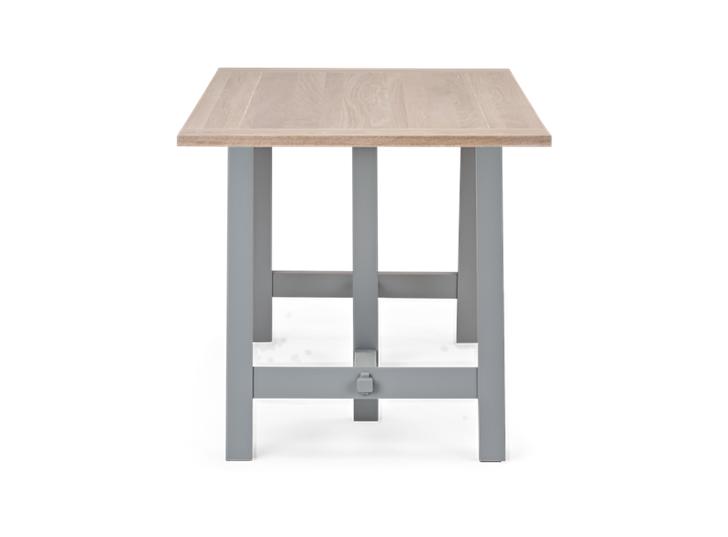 Hebden Trestle Table_Chalked Oak Top_Fog Legs
