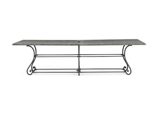 Cheltenham 280 Rectangular Table_Metal & Granite_Garden Furniture
