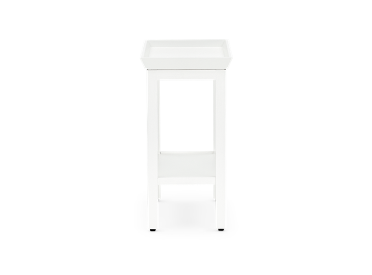 Aldwych rectangular side table Snow side