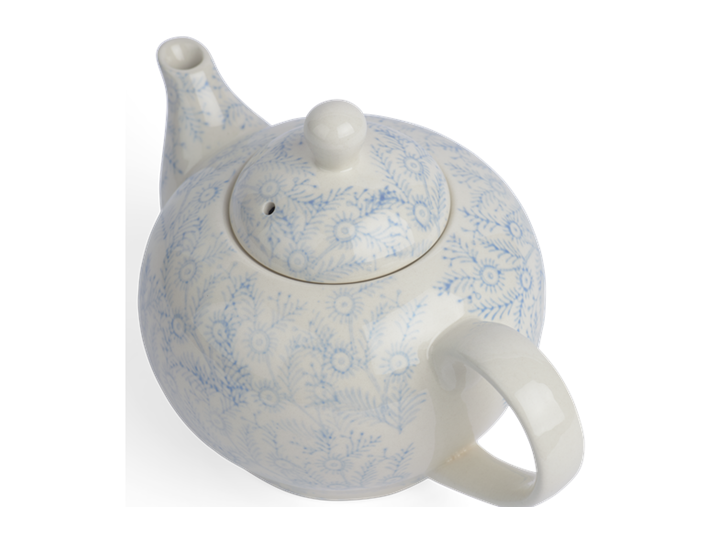 Olney Teapot - Flax Blue 4