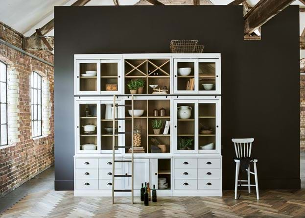 Chawton Modular Unit Kitchen Pantry with Ladder