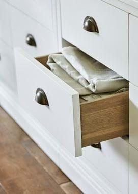 Chawton Open Drawer Dove Tail Oak Internal