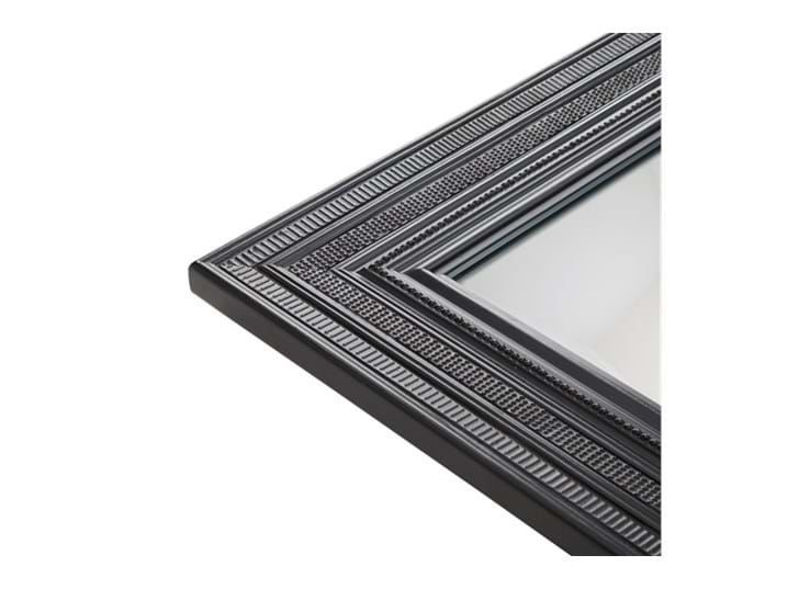 Kintbury 120 Rectangular Mirror Black_Frame Detail PR