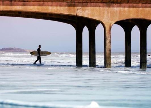 Bournemouth beach surfers via Love Bournemouth