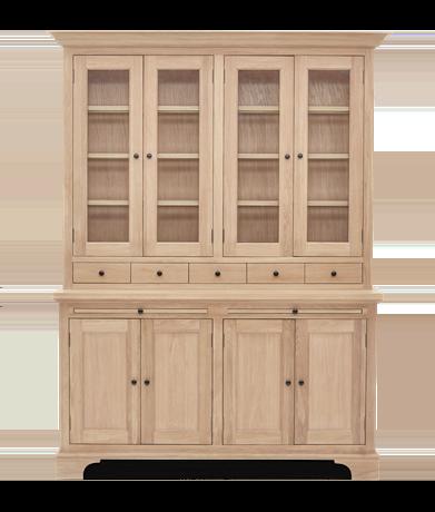 Henley 5ft Glazed Oak Dresser Top Front