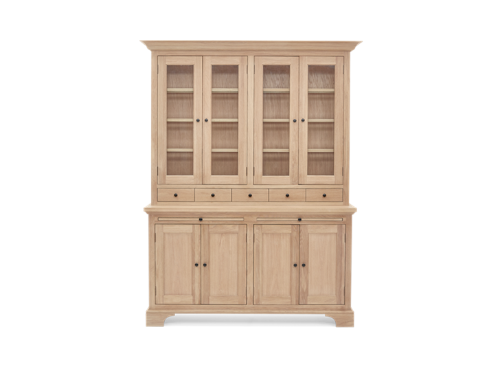 Henley 5ft Glazed Oak Dresser Top Front