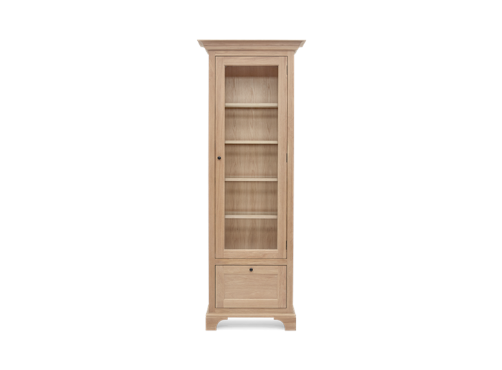 Henley Narrow Glazed Oak Cabinet Right Front