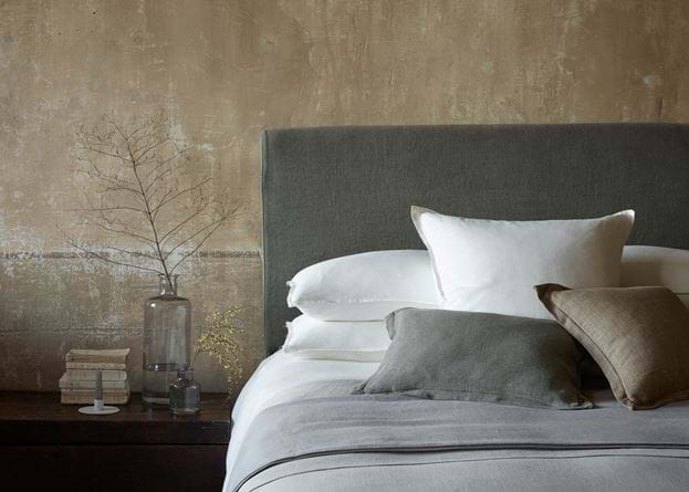 Beatrix cushion on bed