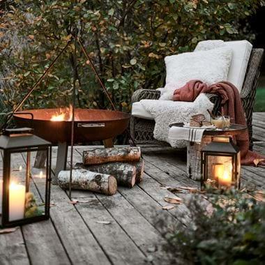 Harrington Armchair with Browning Outdoor Lanterns Bonfire Night
