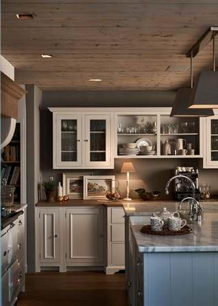 Cosy galley kitchen spotlights