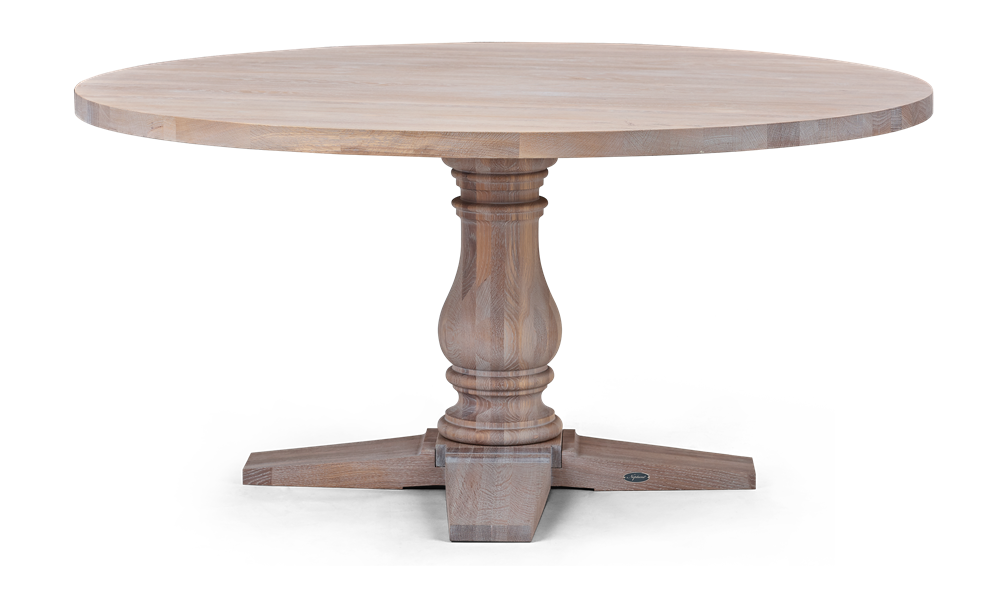 Balmoral 160 Round Table_Seasoned Oak_Front