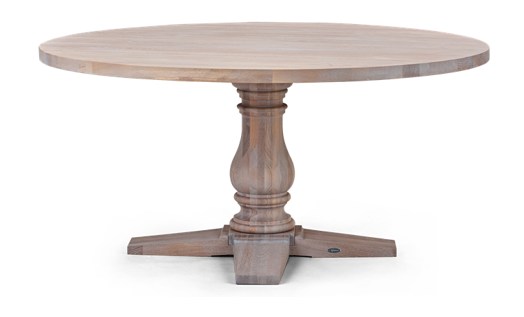 Balmoral 160 Round Table_Seasoned Oak_Front