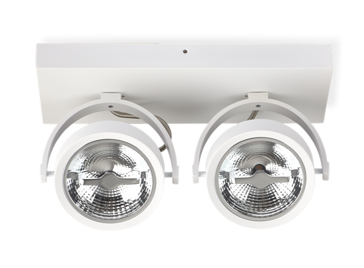 AR111 Surface Mounted Fixture Double White 0