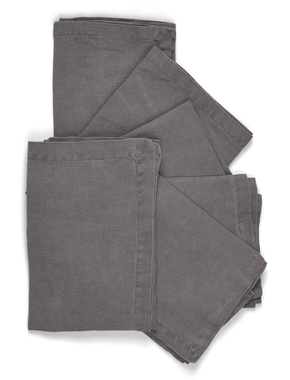 Emily Linen Napkins Set of 6 Peat_Stack