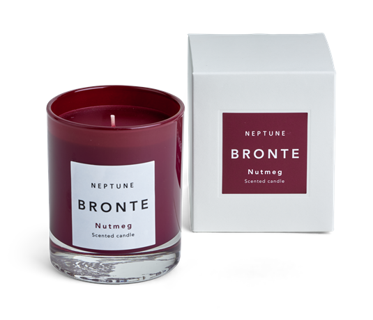 Bronte Nutmeg Scented Candle, Red box